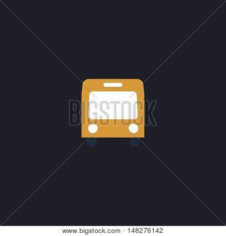 autobus Color vector icon on dark background