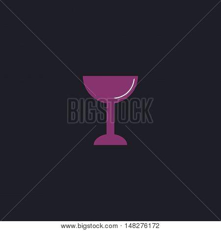 chalice Color vector icon on dark background