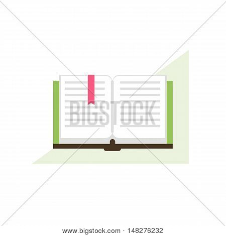 Opened book. Library concept. Reading icon. Vector illustration flat design