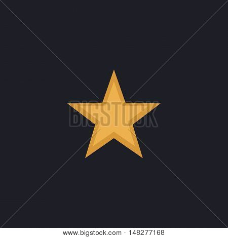 Clasic star Color vector icon on dark background