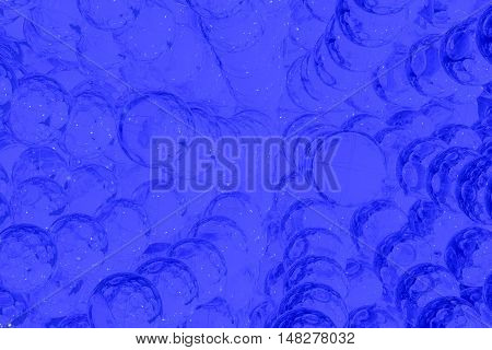 Abstract art blue background with ghostly balls 3d rendering