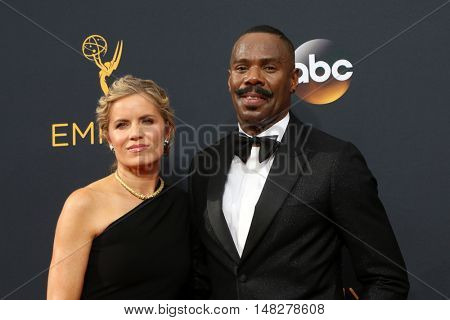 LOS ANGELES - SEP 18:  Kim Dickens, Colman Domingo at the 2016 Primetime Emmy Awards - Arrivals at the Microsoft Theater on September 18, 2016 in Los Angeles, CA