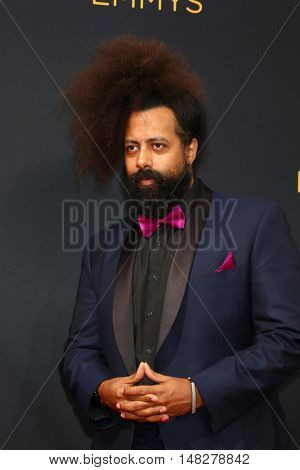 LOS ANGELES - SEP 18:  Reggie Watts at the 2016 Primetime Emmy Awards - Arrivals at the Microsoft Theater on September 18, 2016 in Los Angeles, CA