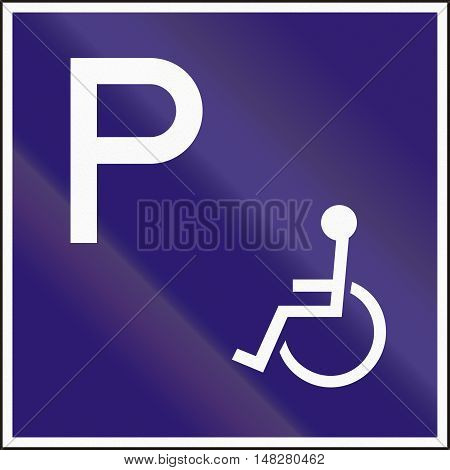 Hungarian Additional Road Sign - Parking For Disabled