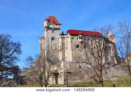 Liechtenstein castle fort burg in Lower Austria