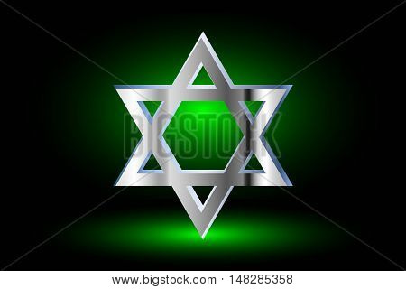 Star of david ,Jewish star, Star of David on a green background