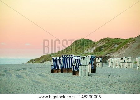 Beach Chairs at Sylt in Germany, Europe