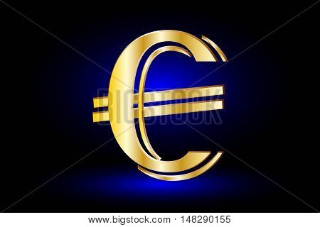 euro symbol on blue background, euro symbol