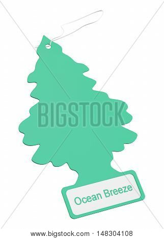 Car air freshener 3D rendering isolated on white background