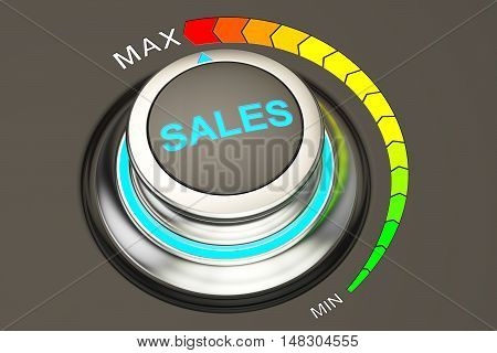 max level of sales concept 3D rendering