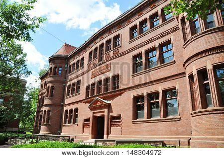Sever Hall in Harvard Yard, Harvard University, Cambridge, Massachusetts, USA