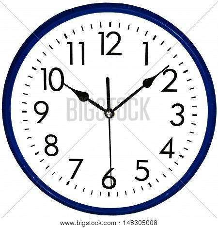 Round Wall clock isolated on white background