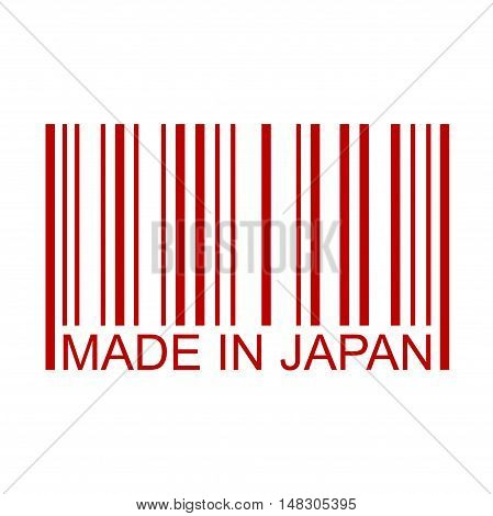 Made In Japan Full Bar Code Minimal Text