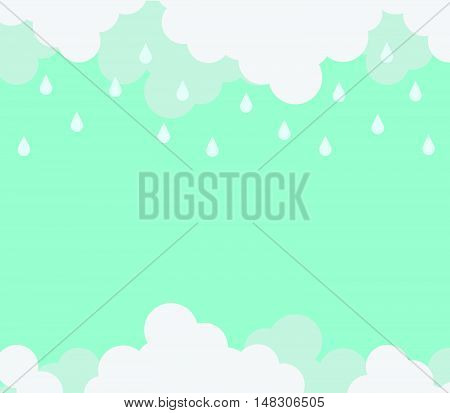 Monsoon Season Background With Cloud And Rain