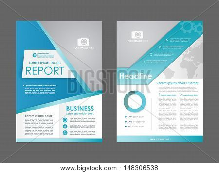 Brochure, Annual report, flyer, presentation. Front page, book cover layout design. Design layout template in A4 size . Abstract blue templates