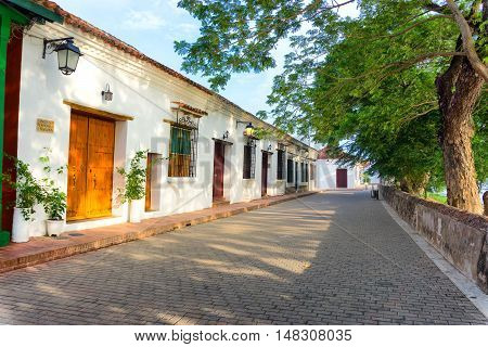 View of colonial architecture in Mompox Colombia
