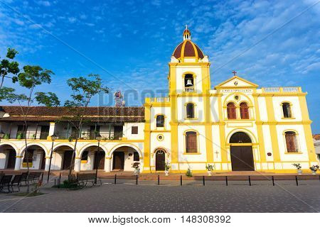 View of the Church of the Immaculate Conception in Mompox Colombia