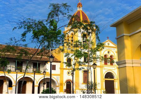 Church of the Immaculate Conception and colonial architecture in Mompox Colombia