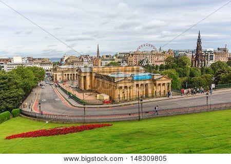 Cityscape Of Edinburgh, Scotland