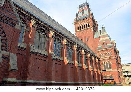 Memorial Hall in Harvard University, Cambridge, Massachusetts, USA