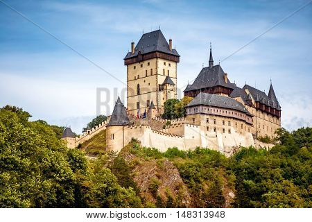Royal Castle Karlstejn. Central Bohemia Karlstejn village Czech Republic