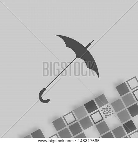 Umbrella Symbol Vector Icon