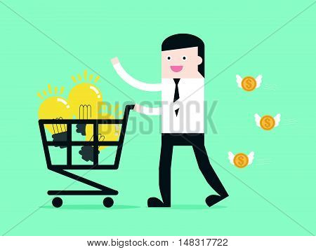 Shopping Idea By Businessman
