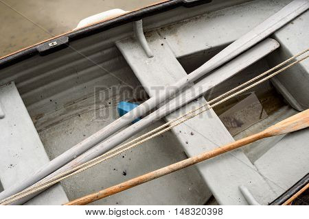 Rowing Boat Interior Sea Abstract