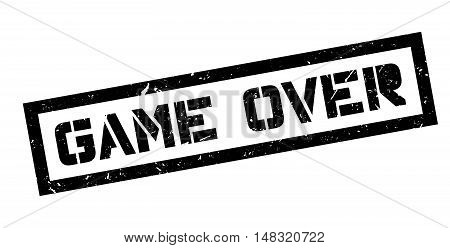 Game Over Rubber Stamp