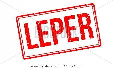 Leper Rubber Stamp