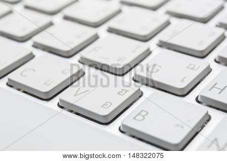 Shift button from a keyboard white color poster