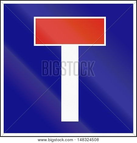Road Sign Used In Hungary - No Through Road