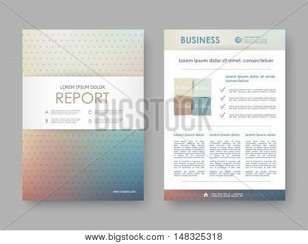 Brochure, Annual report, flyer, presentation. Front page, book cover layout design. Design layout template in A4 size . Abstract gradient templates