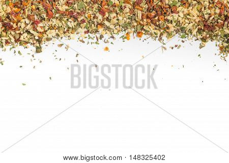 Chimichurri Herbs Frame isolated in white background