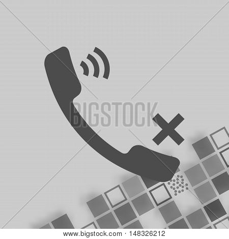 Mute Up The Microphone Flat Vector Icon