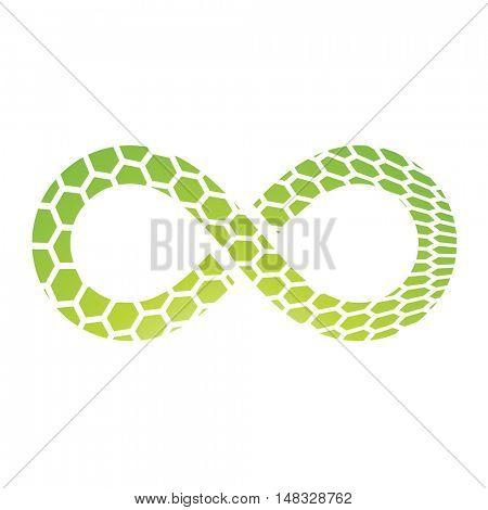 Illustration of Infinity Symbol Design isolated on a white background