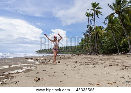 Model On The Beach