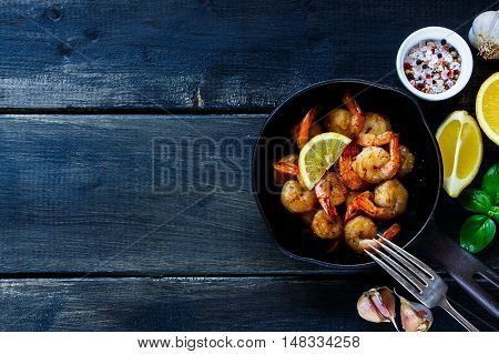 Roasted Prawns In Pan