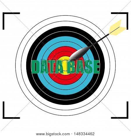 DATA  BASE word Vector EPS 10, business concept.