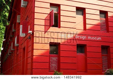 singapore, singapore - september 10, 2016: Red Dot Design Museum Singapore is one of the top Singapore attractions, an unique place of interest in Singapore.