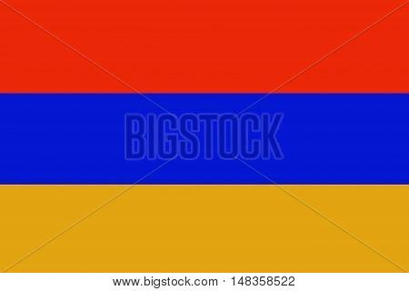 Armenia flag ,original and simple Armenia  flag