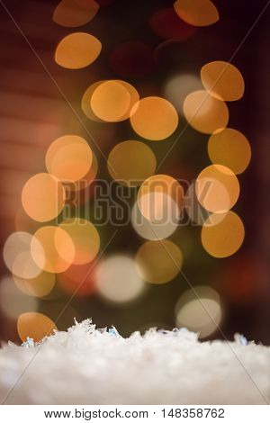 Composite image of spangles background at christmas time