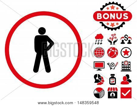 Audacity icon with bonus pictogram. Vector illustration style is flat iconic bicolor symbols intensive red and black colors white background.