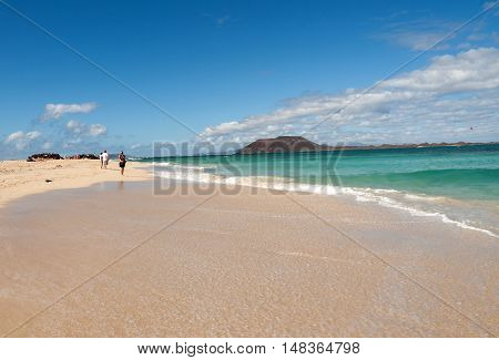 Corralejo Beach on Fuerteventura Canary Islands Spain