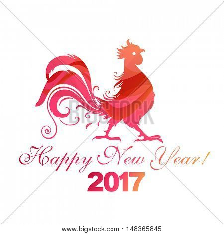 Fire rooster, symbol of 2017 on the Chinese calendar