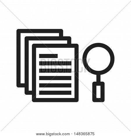 Search, results, analysis icon vector image. Can also be used for software development. Suitable for use on web apps, mobile apps and print media.
