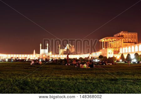 September 15, 2016 ,Naqsh-e Jahan Square known as Imam Square, Esfahan, Iran, Constructed between 1598 and 1629, one of the best Tourist attraction place in Esfahan to see and buying gift and handicrafts