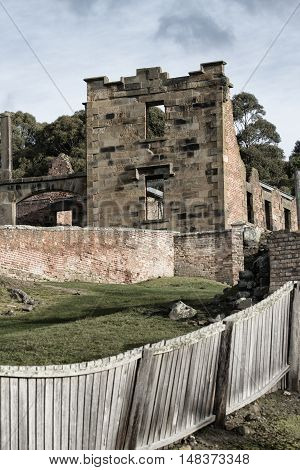 Port Arthur Building In Tasmania, Australia.