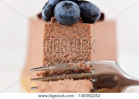 Cheesecake with berries. Cheesecake sweet dessert close-up