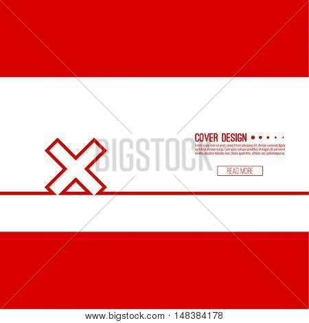 Vector  background with check marks, ticks, x. checkbox. Web and mobile applications. rejection and form of access denial, refusing. red. template, layout